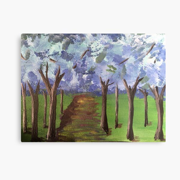 Within The Woods - Blue Forest Metal Print