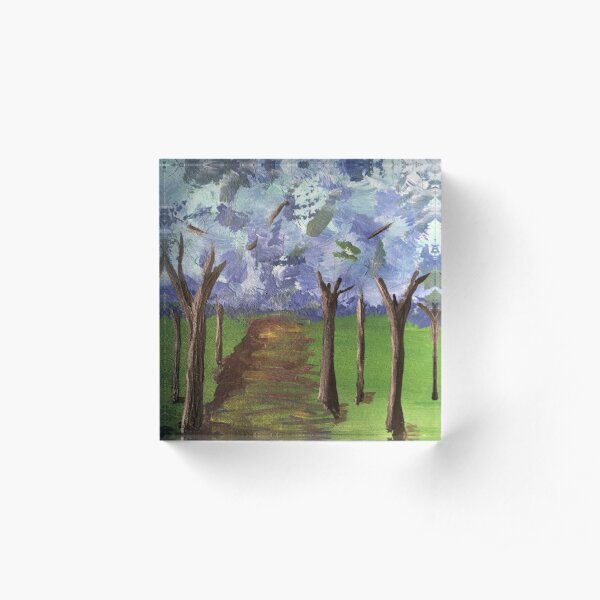 Within The Woods - Blue Forest Acrylic Block