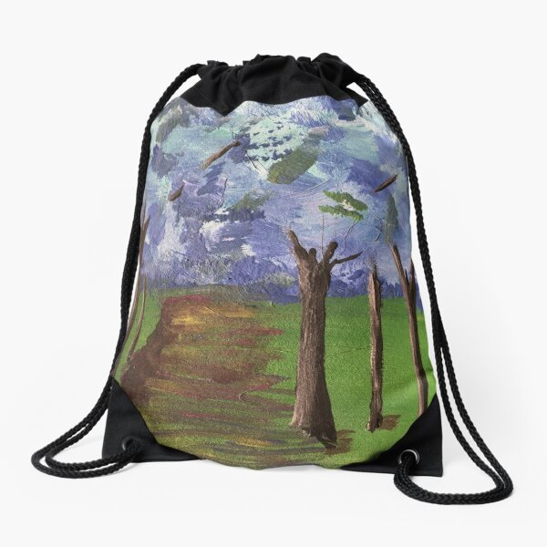 Within The Woods - Blue Forest Drawstring Bag