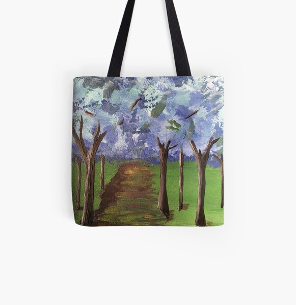 Within The Woods - Blue Forest All Over Print Tote Bag