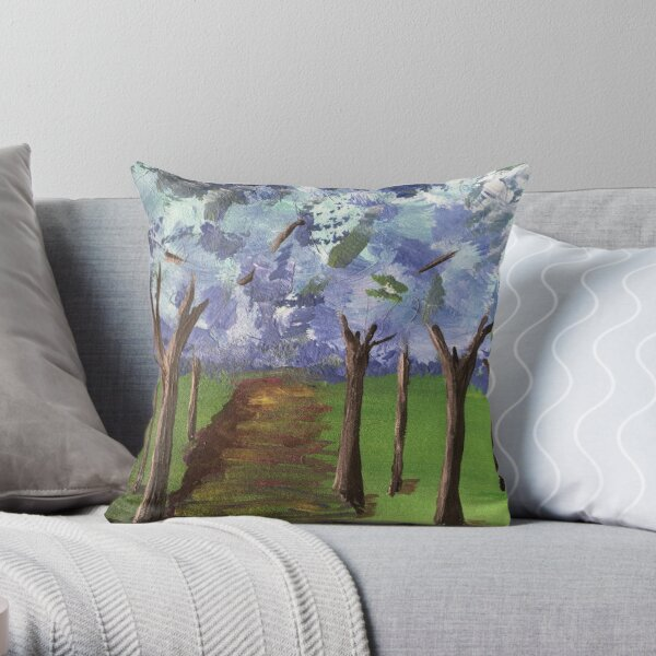 Within The Woods - Blue Forest Throw Pillow
