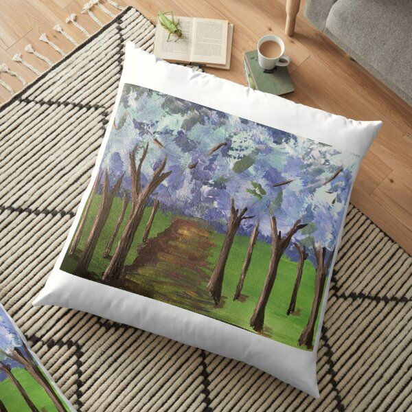Within The Woods - Blue Forest Floor Pillow