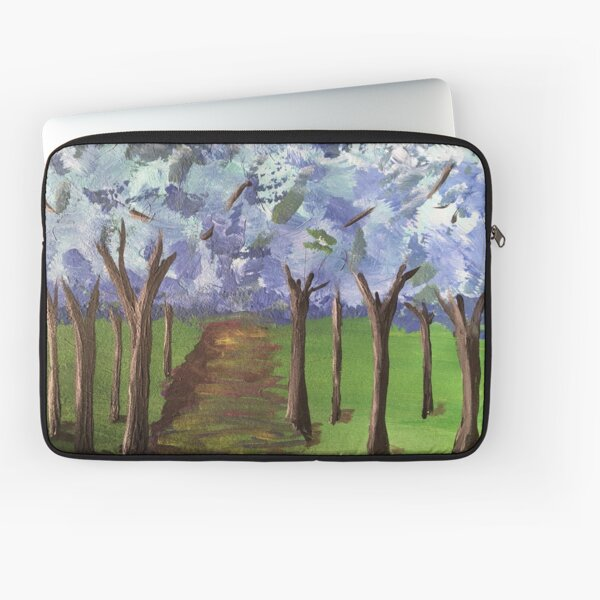 Within The Woods - Blue Forest Laptop Sleeve