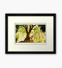 Handstand by the tree Framed Print