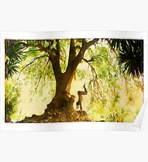 Handstand by the tree Poster