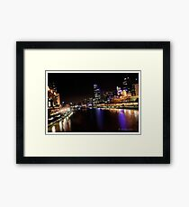 Melbourne in colourful times Framed Print
