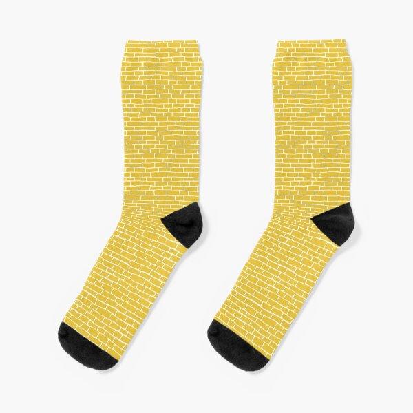Brick Road - Yellow and white Socks