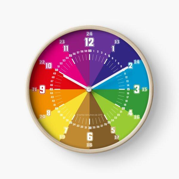 Lernuhr Minimalistisch  Regenbogen © hatgirl.de (Uhr, für Kinder, Minmaldesign) Uhr