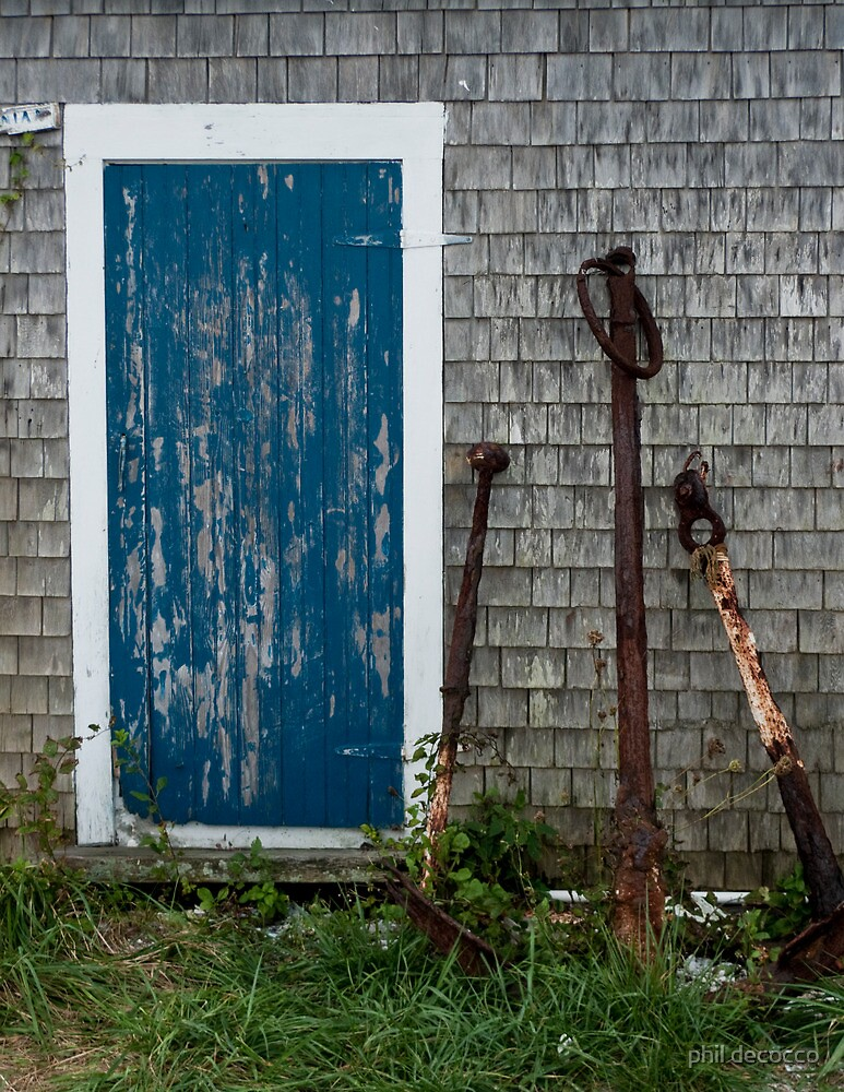 Menemsha Anchor Shed by phil decocco