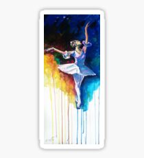 Colorful ballet dancer  Sticker