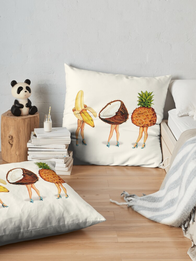 Alternate view of Fruit Stand: Tropical Girls Floor Pillow