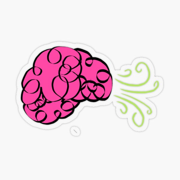 Brain Fart Transparent Sticker