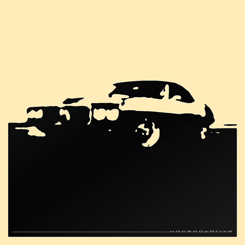 Pontiac Firebird, 1969 - Black on cream by uncannydrive