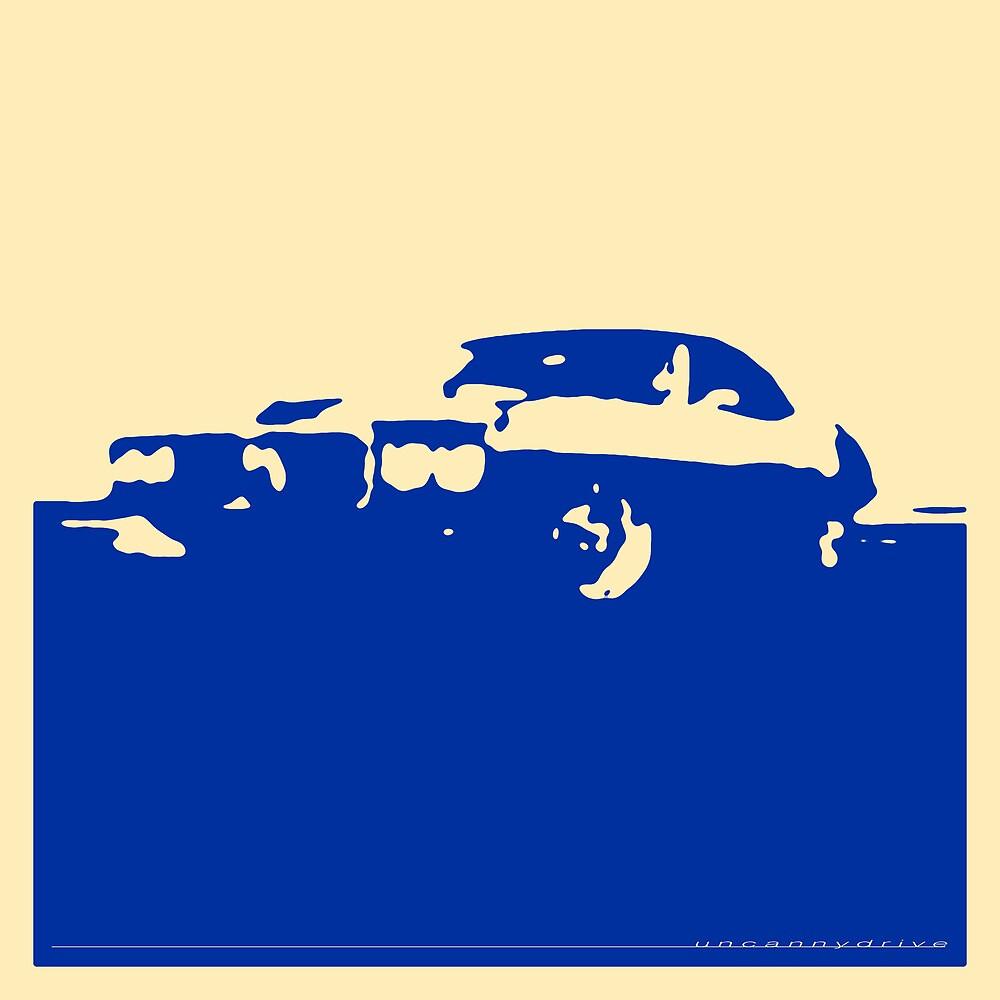 Pontiac Firebird, 1969 - Blue on cream by uncannydrive