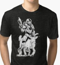 Chief and his Mighty Steed Tri-blend T-Shirt