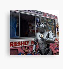 Cyberman with ice cream Canvas Print