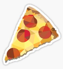 Geometric Pepperoni Pizza Slice Sticker