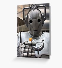 Cyberman with ice cream cone Greeting Card