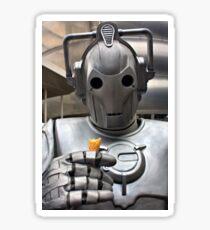 Cyberman with ice cream cone Sticker