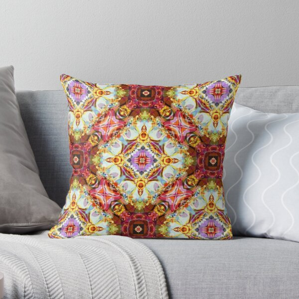 Kaleidoscope Kreation 1023 Throw Pillow