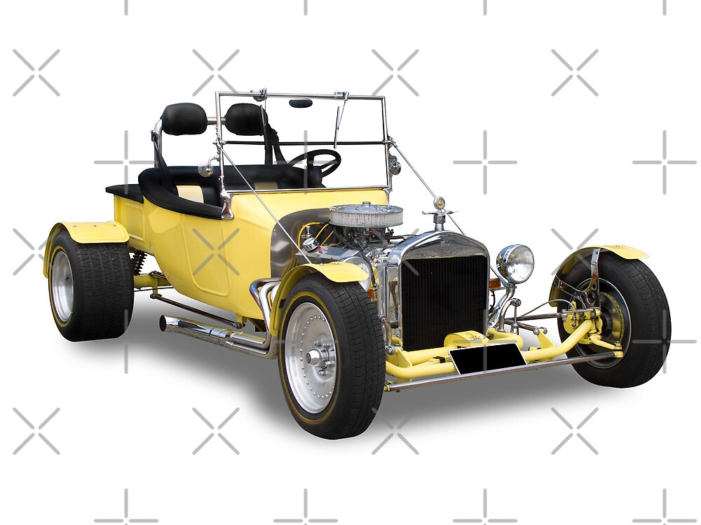 Ford - Yellow Bucket Rod by axemangraphics