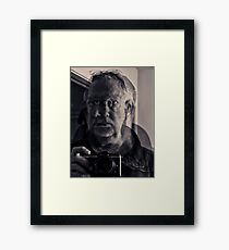 portrait of the photographer as an abstract Framed Print