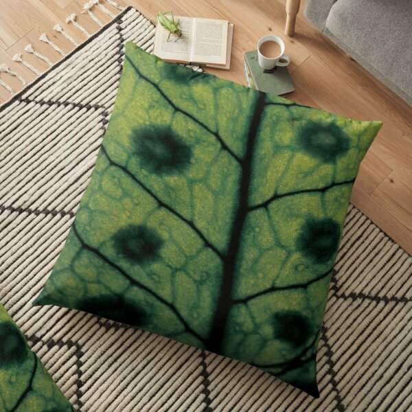Macro fern leave Floor Pillow
