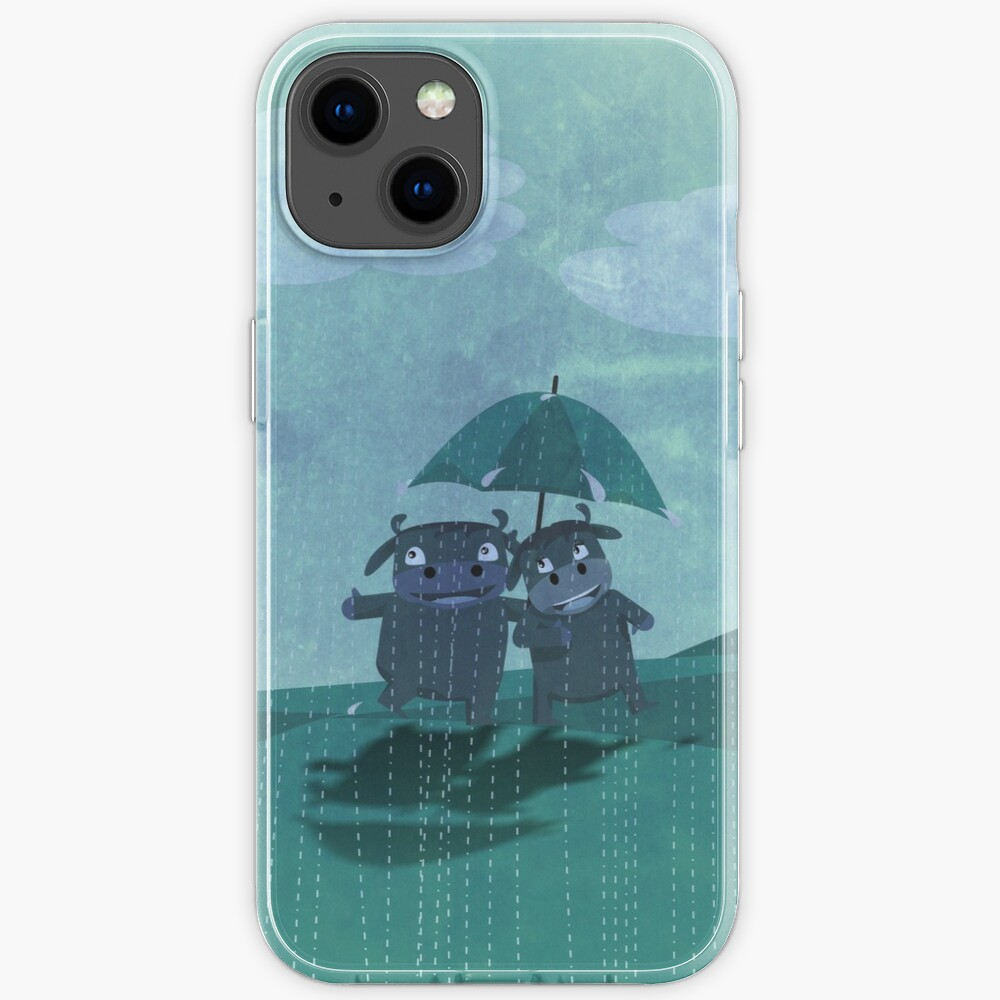 lovers in the rain iPhone Case