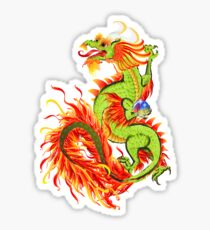 Flaming Dragon Sticker