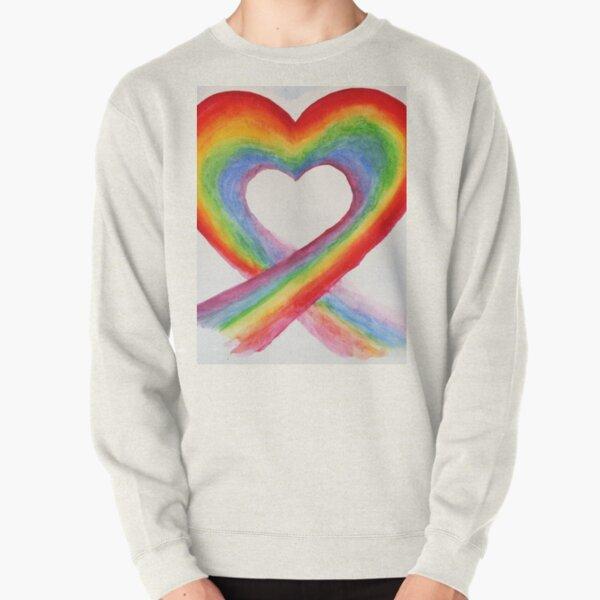 Coeur Arc en Ciel / Rainbow Heart Sweatshirt épais