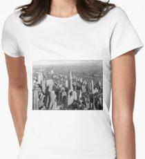 Camiseta entallada para mujer Vintage Midtown Manhattan Photograph