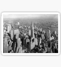 Pegatina Vintage Midtown Manhattan Photograph