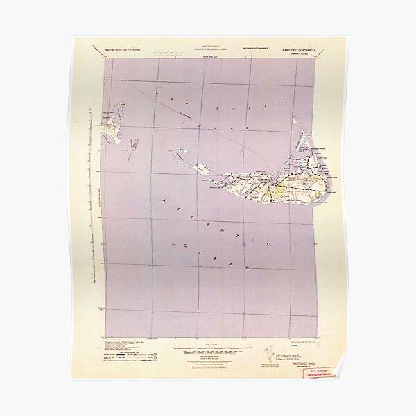Massachusetts  USGS Historical Topo Map MA Nantucket 351134 1942 125000 Poster