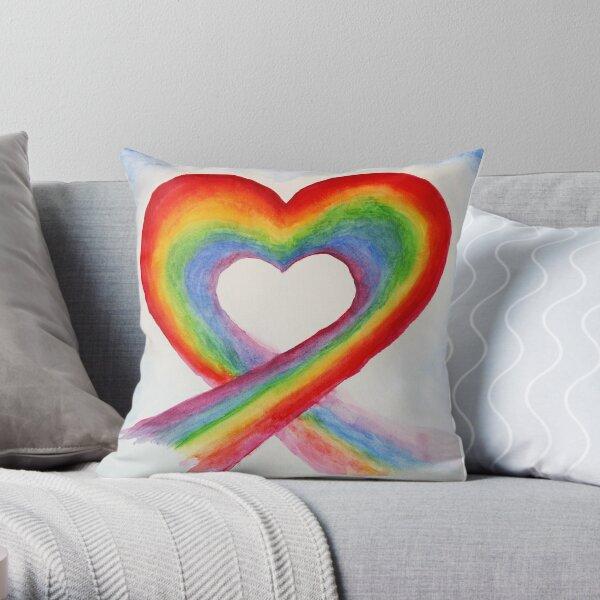 Coeur Arc en Ciel / Rainbow Heart Coussin
