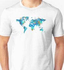 World Map 22 Art by Sharon Cummings Unisex T-Shirt