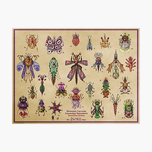 Lovecraft Inspired Insects Nos.1-25 by Thomas Head Photographic Print