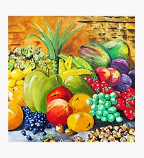 Fruit and nuts Photographic Print
