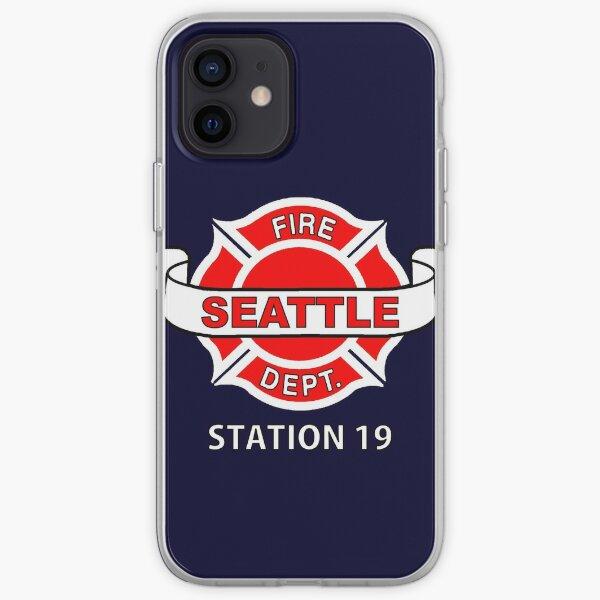 Logo de la chemise de travail Station 19 Coque souple iPhone