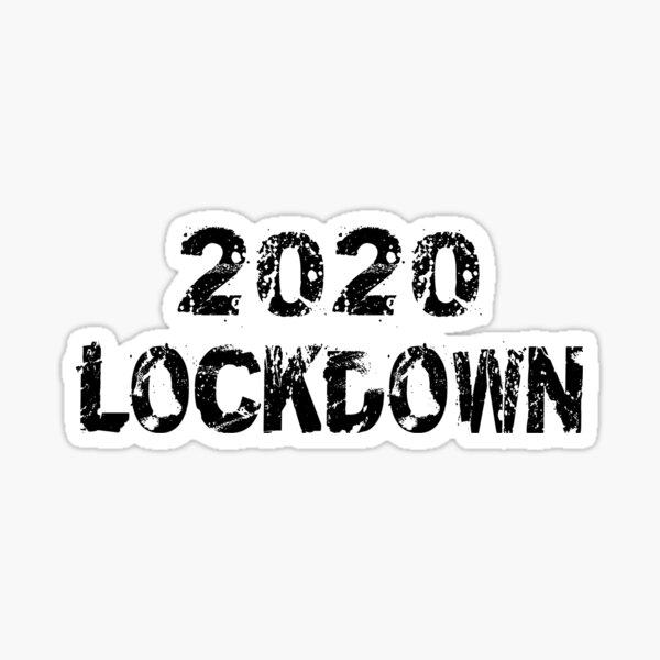 2020 Lockdown - Corona Tee Sticker