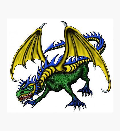 Dragon cartoon drawing art Photographic Print