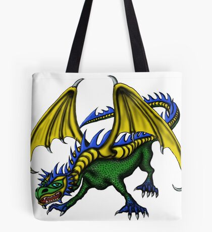 Dragon cartoon drawing art Tote Bag