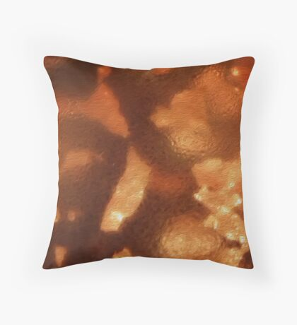 Amber Bead Throw Pillow