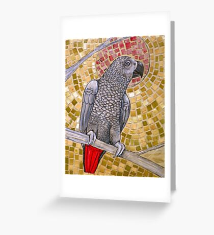 African Grey Sunset Greeting Card