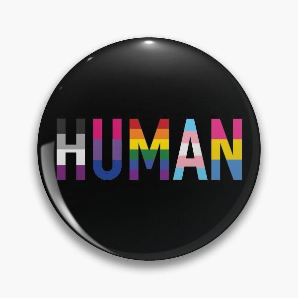 Menschliche, verschiedene Queer Flags 1 Button