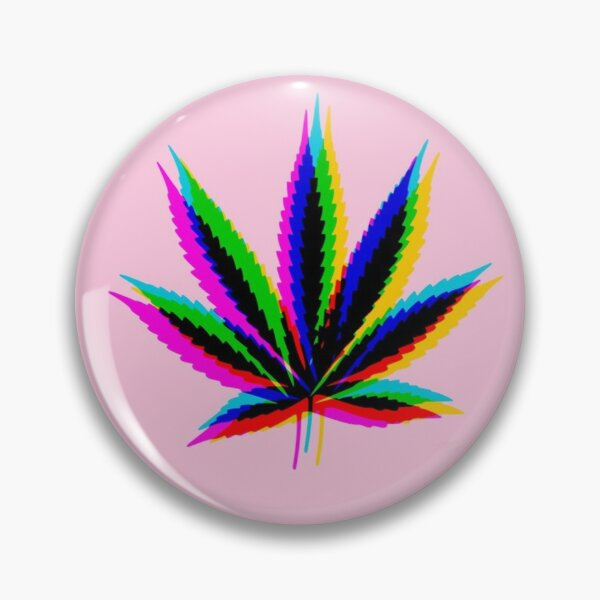 Pink Weed Pot Leaf -  pink aesthetic, pink mood, prismatic weed leaf, prisma, prismatic, pink prismatic, marijuana, hologram, hologram weed, hologram pot leaf,  Pin