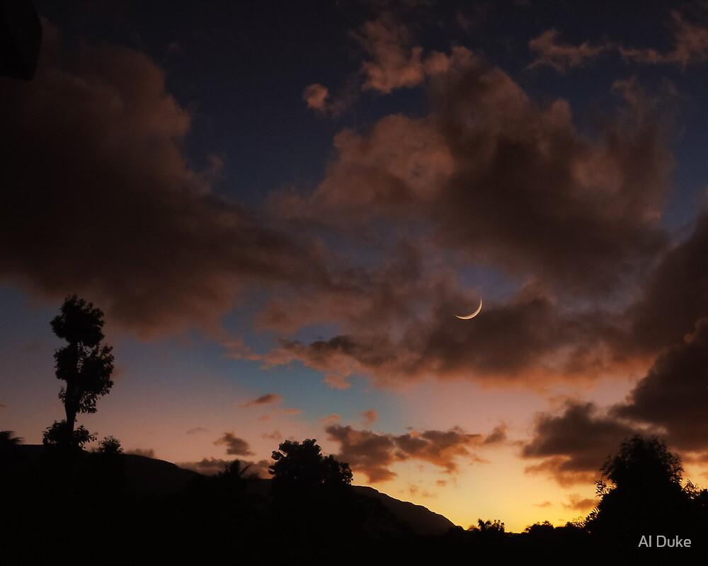 Sunset In The Village by Al Duke