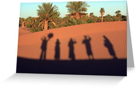 Desert Shadow Dancing by Anne Kingston