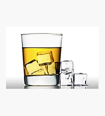 glass of whisky on the rocks Photographic Print