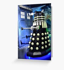 The TARDIS and a Dalek Greeting Card