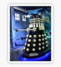 The TARDIS and a Dalek Sticker